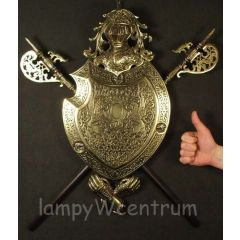 The Great Coat of Arms with two halberds Brass - replica
