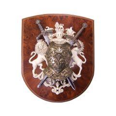 Panoplia with lion and unicorn Denix 518 - replica