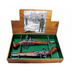 Dueling set, 2 rock pistols 18th century, Denix 2-1102G - replica