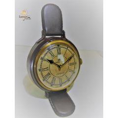 Zegar stojący obszyty skórą CLK-0412B