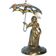 Figurka panienki z parasolką Bursztyn PP1