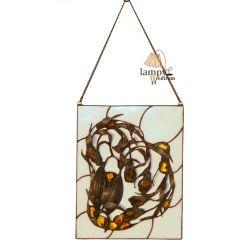 Wywieszka z bursztynem prostokątna Bursztyn W2