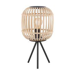 BORDESLEY Lampa stołowa 1 płom. H 40cm czarna/jasne drewno EGLO 43218