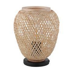 DEMBLEBY Lampa stołowa 1 płom. H 25 cm czarna/jasne drewno EGLO 43263