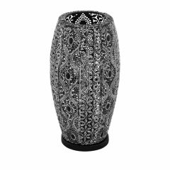 RIYADH Lampa stołowa H 18cm 1 płom. czarna EGLO 43392