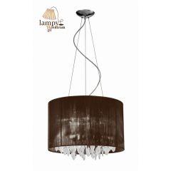 Chandelier lamp 7 flame SIDNEY brown round Azzardo AZ0511