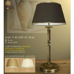 Lampa nocna 2 płomienna Alba P B2 GDP ST 35/64 ryflowana z przerwą i kulką ICARO