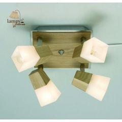 Lampa plafon 4 płomienny MELBOURNE Markslojd - dąb stal 160458,442712