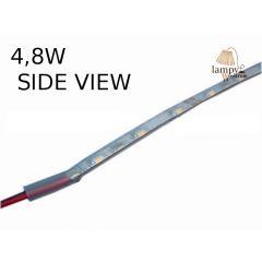 Taśma LED 4,8W IP67 SIDE VIEW standard line świecąca w bok w osłonie z koszulki WSV008-050-06-03