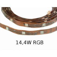Taśma LED 14,4W IP67 standard line w osłonie z koszulki - RGB multikolor W024-050-11-03