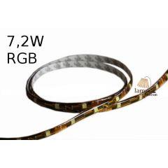 Taśma LED RGB 7,2W standard line w osłonie żelowej - rolka 5m - RGB multikolor G024-100-10-03
