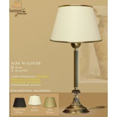 Lampa nocna Alba P B1 WA2 ST. liście + kulka ICARO