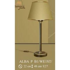 Lampa nocna Alba P B1 WE1 ST. ryflowana okrągła ICARO