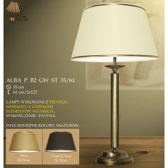 Lampa nocna 2 płomienna Alba P B2 GW ST 35/61 gładka ICARO