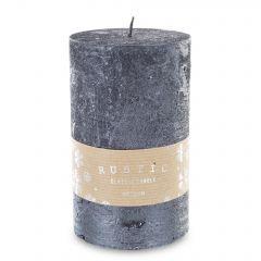 Pl Czarny Świeca Rustic Metalic Walec Duży Fi9 142944