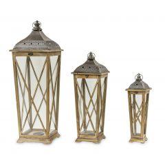 Wooden Lantern Set 76638