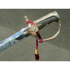 Polish saber Husarska with the toe without a sheath. Chromed blade.