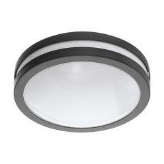 LOCANA-C Lampa plafon zewnętrzny LED Ø 26cm 14W 3000K IP44 antracyt EGLO 97237
