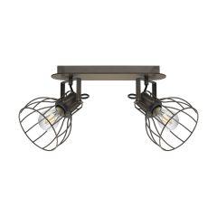SAMBATELLO Lampa plafon listwa regulowana 2 płom. brązowa EGLO 98135