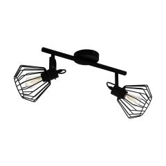 TABILLANO lampa plafon regulowany 2 płom. czarny EGLO 98763
