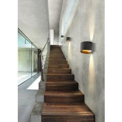 Leticia 2 wall lamp black-gold Azzardo AZ2915