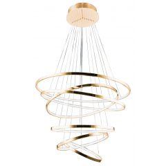 Wheel 6 Long Dimm pendant lamp LED gold Azzardo AZ2921