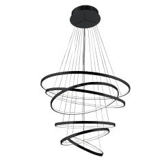 Wheel 6 Long Dimm hanging LED lamp black Azzardo AZ2923
