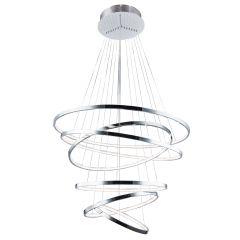 Wheel 6 Long Dimm hanging LED chrome lamp Azzardo AZ2990