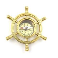 Kompas mosiężny w kole sterowym NC2112A