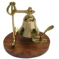 Dzwonek biurowy na podstawie z palisandru, motyw kotwicy  ITMT-11