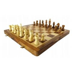 SZA14 folding wooden chess pieces 35x35cm