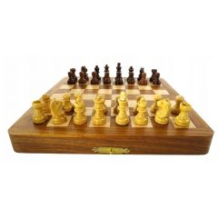 SZA7 folding wooden magnetic chess 18x18cm