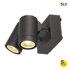 Lampa kinkiet 2 płomienny IP55 LED HELIA antracyt Spotline 233255
