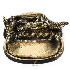 Brass FOX ashtray