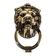 Door knocker LION mane, handle, Brass
