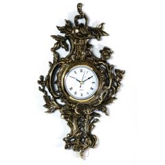 Beautiful HANGING clock bas-relief Brass No. 291
