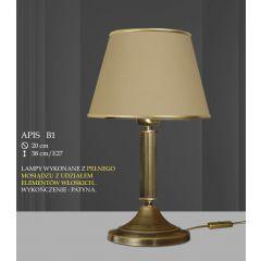 Lampa stołowa 1 płom. Apis różne abażury B1 B1M ICARO