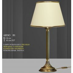 Lampa stołowa 1 płom. Ardo różne abażury B1 B1M ICARO