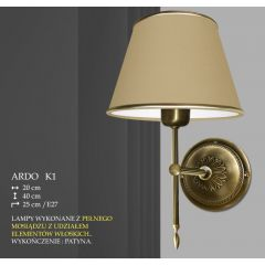 Lampa kinkiet 1 płom. Ardo różne abażury K1 K1M ICARO
