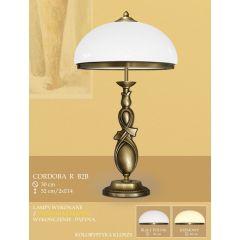 Lampa gabinetowa 2 płomienna Cordoba R klosz opal Ø 30cm biały krem RB2B RB2BE ICARO