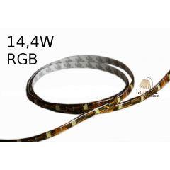 RGB 14,4W LED strip standard line in gel cover - 5m roll - RGB multicolour G024-050-10-03