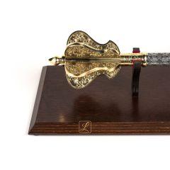 Buzdygan power insignia on a wooden tablo pattern 1 steel brass replica