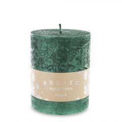 Pl Zielony Świeca Rustic Metalic Walec Średni Fi9  142950