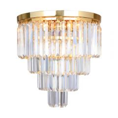 Amedeo Crystal ceiling lamp 5 flames gold Zuma Line FC17106 / 4 + 1-GLD