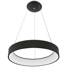 Pulsano Lampa wisząca LED Ø 80cm 80W 3000K czarna HB14032 HOLDBOX