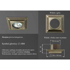 Lampa oczko wpuszczane z1084 oprawka retro mosiądz włoski ICARO