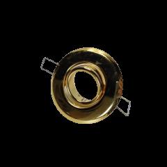 Oprawka halogenowa wpuszczana złota
