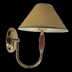 Lampa kinkiet 1 płomienny złoty KOWANÓWKO
