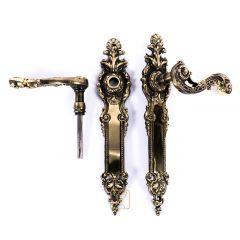 HAMBURG door handles, wide handle, elegant sign. Brass, Polish product