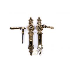 MOROCCO door handles, beautiful, oriental pattern. Brass, Polish product